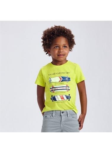 Mayoral Mayoral Erkek Çocuk Baskili Tshirt Sarı 20293 Sarı